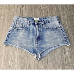 Forever 21 Blue High Rise High Waisted Shorts